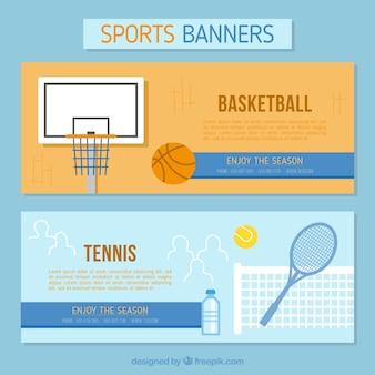 Banners de tenis y baloncesto