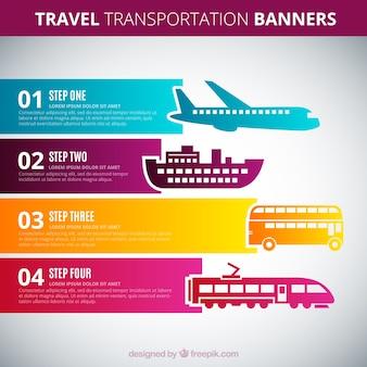 Banners de transporte de viaje