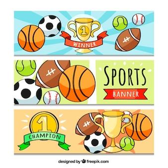 Banners de trofeos de deporte