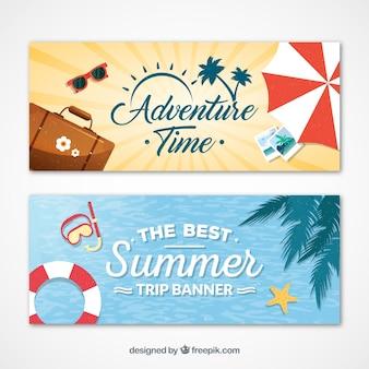 Banners de viajando en verano