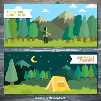 Banners de zonas de excursionismo