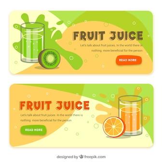 Banners de zumo de frutas