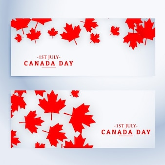 Banners del día de canadá