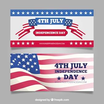 Banners del día de la independencia decorativos