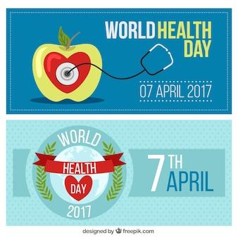 Banners del día mundial de la salud