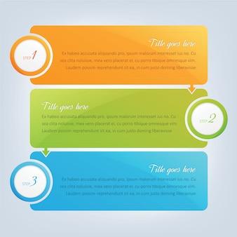 Banners, diseño de pasos infográficos