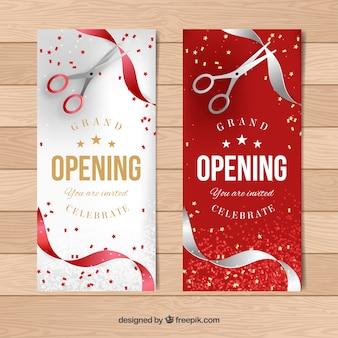Banners elegantes de apertura