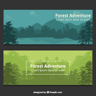 Banners elegantes de bosque