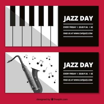Banners elegantes de jazz