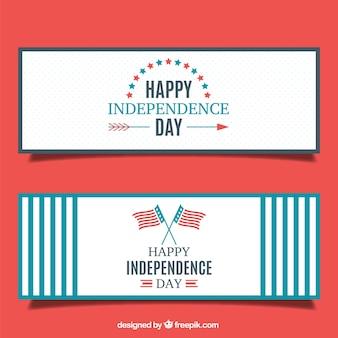 Banners estilosos bonitos del día de independencia