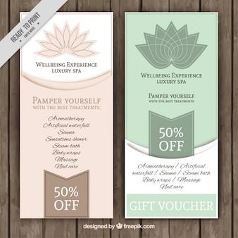 Banners florales de oferta de spa