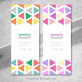 Banners geométricos