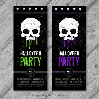 banners grunge de halloween