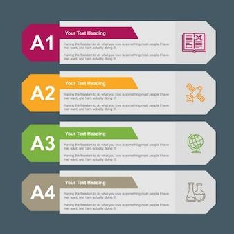 Banners infográfico estilosos