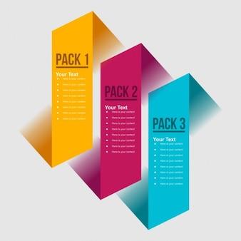 Banners infográficos simples en diseño plano