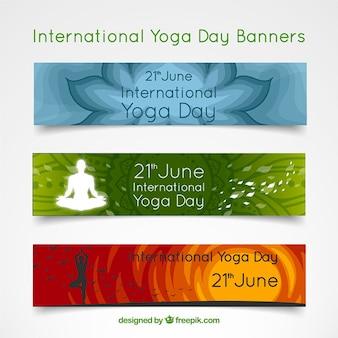 Banners inspiradores de yoga