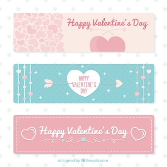 Banners lindos de San Valentín