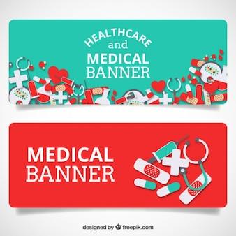 Banners médicos y de cuidado de la salud