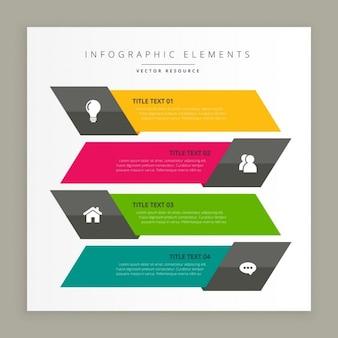 Banners modernos infográficos de negocios