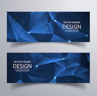 Banners modernos poligonales