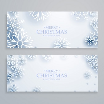 Banners navideños congelados