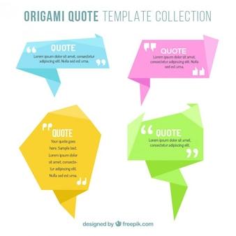 Banners origami para escribir citas