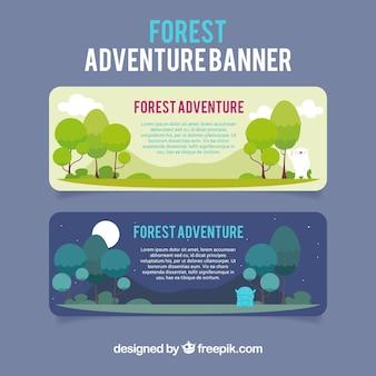 Banners sobre la aventura bosque