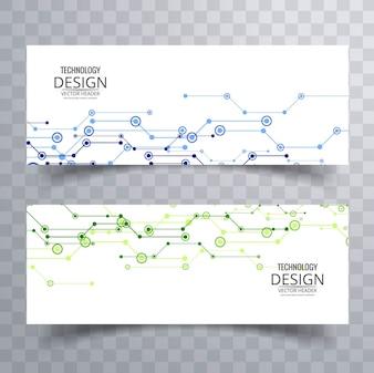 Banners tecnológicos, azul y verde