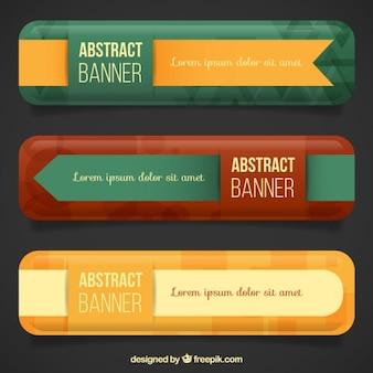 Banners vintage con cintas