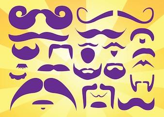 barbas bigotes vectores