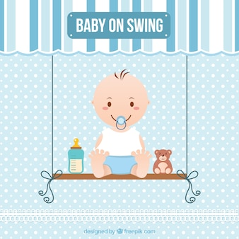 Bebé en un columpio