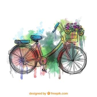 Bicicleta pintada a mano colorida