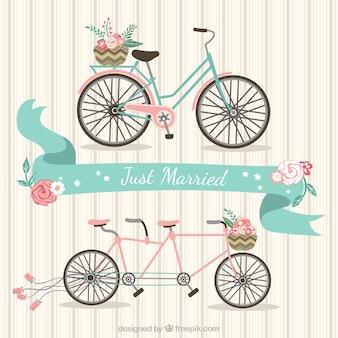 Bicicletas de recién casados