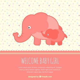 bienvenido bebé niña tarjeta