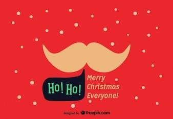 Bigote de Santa Claus en una postal de Navidad