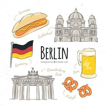 Bocetos de cosas típicas de Berlín