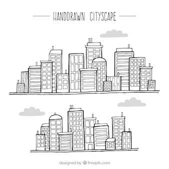 Bocetos de diferentes ciudades modernas