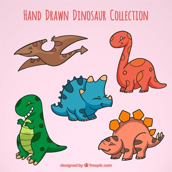 Bocetos de dinosaurios bebé