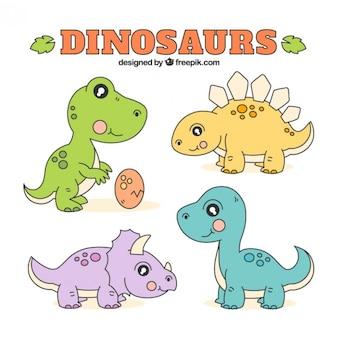 Bocetos de dinosaurios bebés