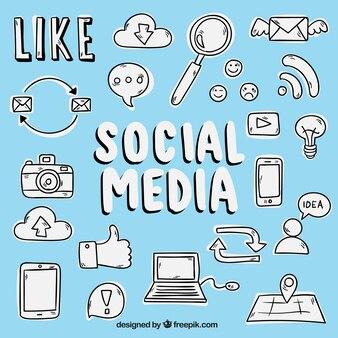 Bocetos de iconos de medios sociales