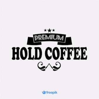Bodega de café premium bandera