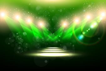 Bokeh efecto de brillo de luz brillante