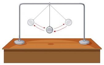 Bola de la gravedad que se balancea en la tabla
