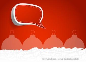 Bola de la Navidad con la caja de diálogo