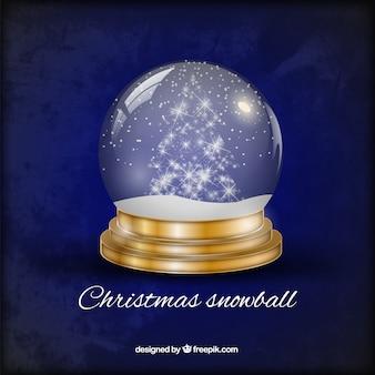 Bola de nieve de Navidad