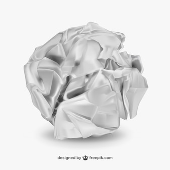 Bola de papel arrugado