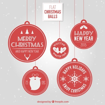 Bolas de navidad planas