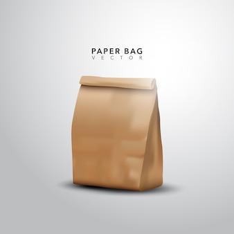 Bolsa de papel con diseño realista