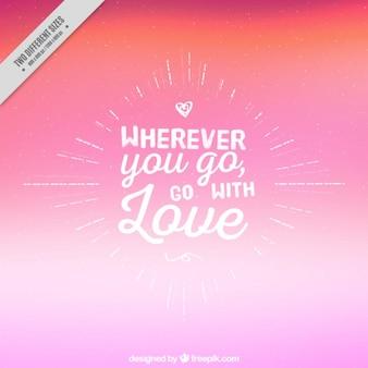 Bonita cita sobre fondo rosa
