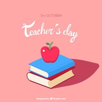 Bonita escena para el día mundial del profesorado